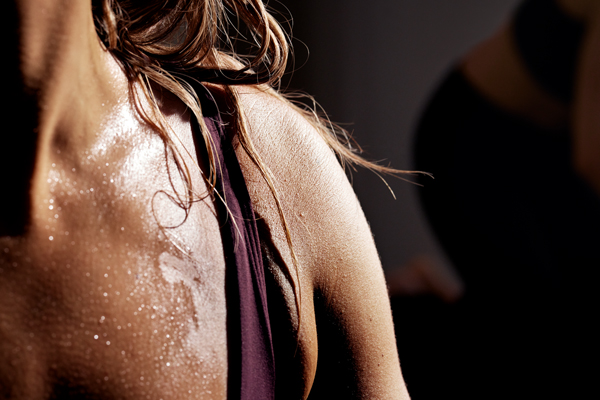 Close up sweat on body