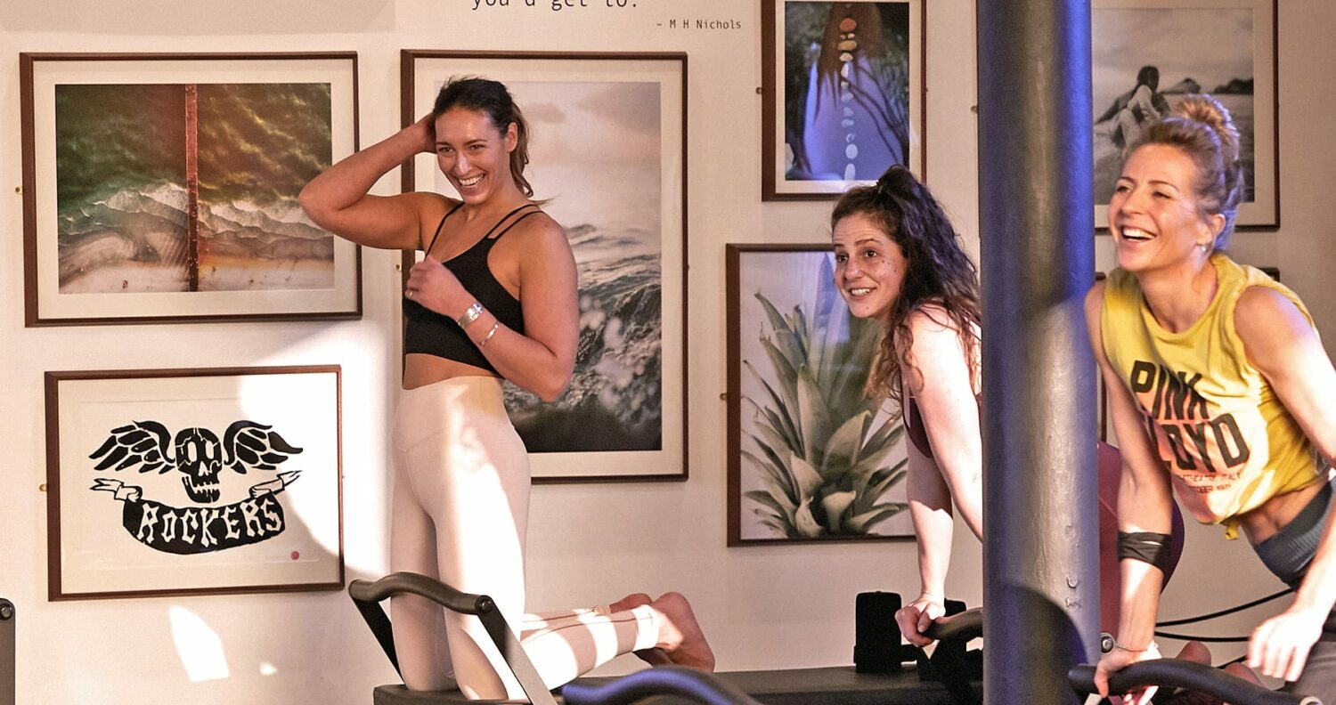 Women exercising on Coreformers at Heartcore Chelsea