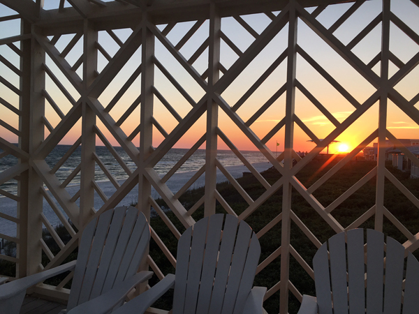 Sunset through lattice