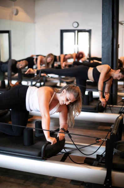 Woman exercising in studio