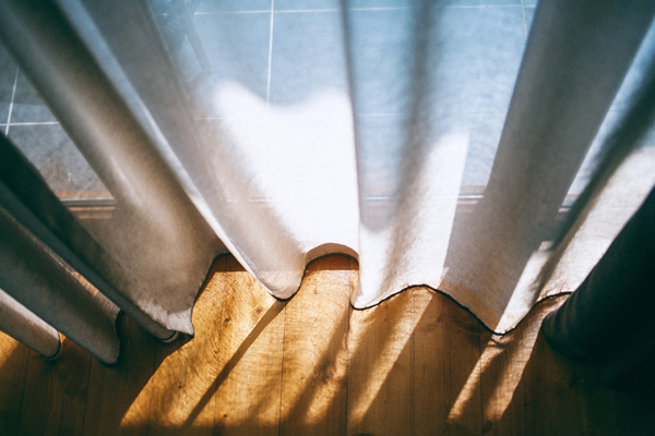 Sunlight through curtain